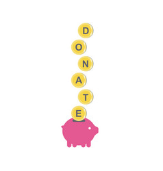 donate icon with piggy bank vector image