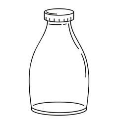Empty bottle cartoon vector