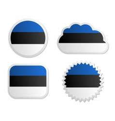 Estonia flag labels vector image vector image