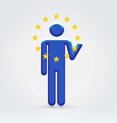 European Union symbolic citizen icon vector image