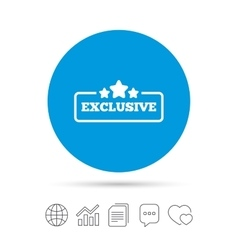 Exclusive sign icon Special offer symbol vector