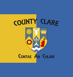 Flag county clare in munster ireland vector