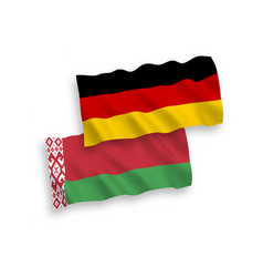 Flags belarus and germany on a white background vector