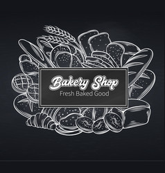 Food template page design for bakery vector