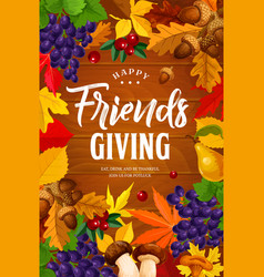 friendsgiving day holiday dinner party vector image