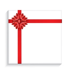 Gift Box with Red Bow Ribbon vector