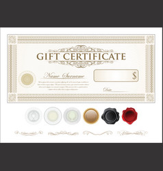 gift certificate retro vintage template vector image