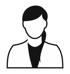 Girl avatar simple icon vector