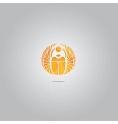 Gold scarab logo vector