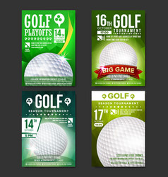 Golf poster set design for sport bar vector