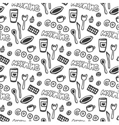 Good morning seamless pattern seamless pattern vector