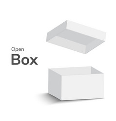 gray open box on white background open box with vector image