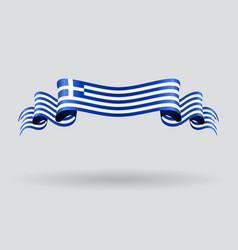 Greek wavy flag vector