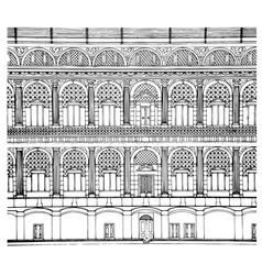 Hand drawing facade vector