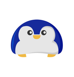 happy cute penguin animal character vector image