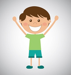 happy kid vector image