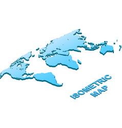 isometric map world isolated on white vector image