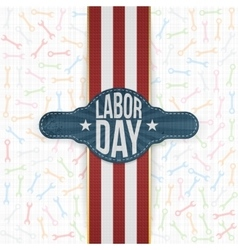 Labor Day Emblem on white Backround vector image