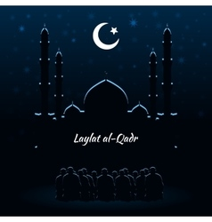 Laylat al-Qadr Islamic celebration vector