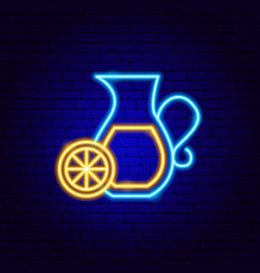 Lemonade neon sign vector