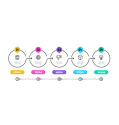line step infographic 5 options workflow diagram vector image