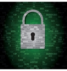 Lock on background with HEX-code vector image