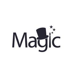 Magic logo for design editable vector