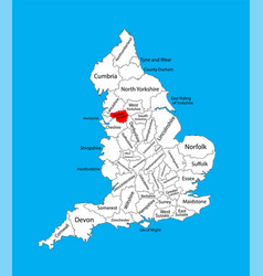Map greater manchester in north west england vector