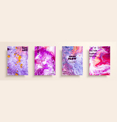 mixture of acrylic paints modern artwork trendy vector image