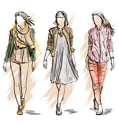 Model Sketches vector image