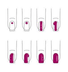 nail care manicure vector image