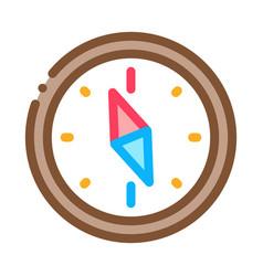 Navigational compass tool icon thin line vector