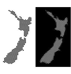 New zealand map hexagon mosaic vector