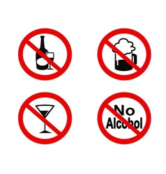 No Alcohol sign icon vector image
