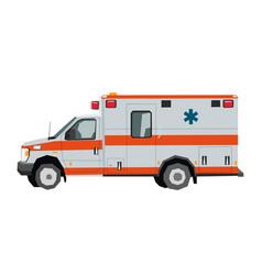 Nursery ambulance car drawing vector