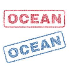 Ocean textile stamps vector