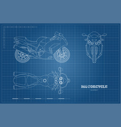 outline drawing motorcycle vector image