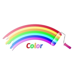Paint roller color vector