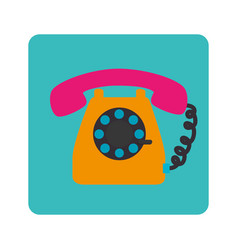 phone service button icon vector image