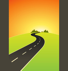 Road to the top vector