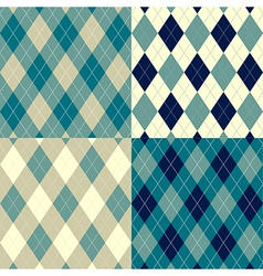 Seamless argyle pattern vector image