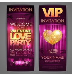 Set of disco background banners vector