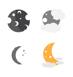 Set of moon icons vector