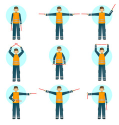 set of of a special worker in vector image