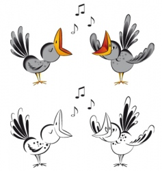 singing crows vector image
