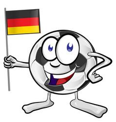 soccer ball cartoon with germany flag vector image