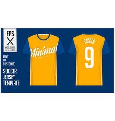 Soccer jersey football kit minimal style vector