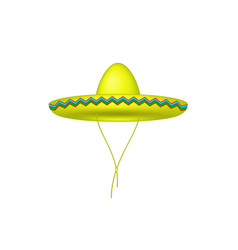 sombrero hat in yellow design vector image