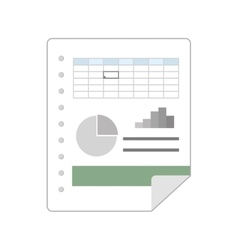 Spreadsheet file document vector