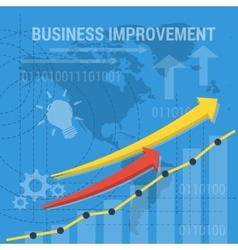 square background BUSINESS IMPROVEMENT vector image